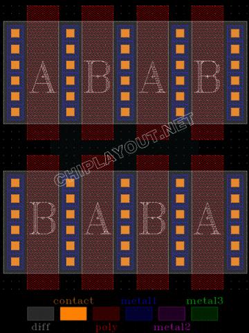 Centroid-symmetrical-match-mos-layout