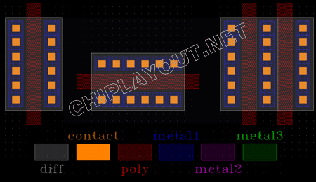 different-direction-match-mos-layout